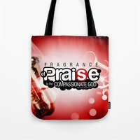 scripture Tote Bags featuring Bible Scripture by Azeez Olayinka Gloriousclick