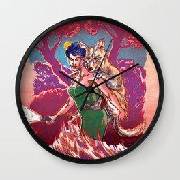 Coyote Jane Wall Clock