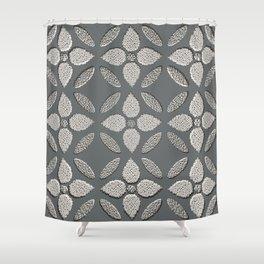 Jaipur Trellis Graphite Shower Curtain