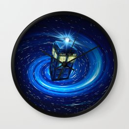 Tardis Blue Vortex Wall Clock