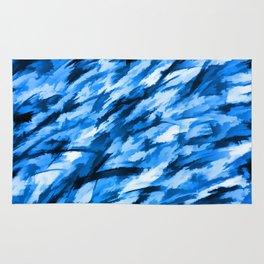 la configuration bleue Rug