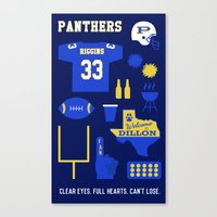 friday night lights Canvas Prints featuring FRIDAY NIGHT LIGHTS by Anthony Morell
