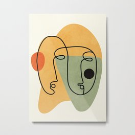 Abstract Faces 19 Metal Print