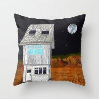 moonrise kingdom Throw Pillows featuring Moonrise Kingdom by Veronique de Jong