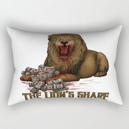 The Lion's $hare Rectangular Pillow