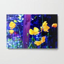 Yellow Poppies  Metal Print