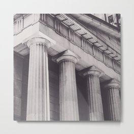 Black & white New York, Federal Hall, greek temple, Wall street, neoclassical architecture, fine art Metal Print