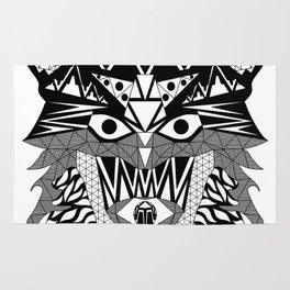 Tenacious Wolf Rug