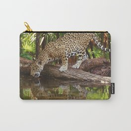 Marvelous Impressive Beast Enjoying Water At Source UHD Carry-All Pouch