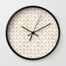 Japanese Paper Waves Wall Clock