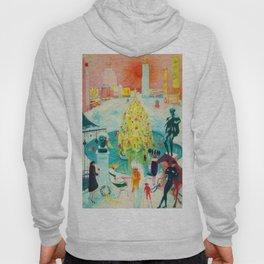 New York City, Winter Time Portrait by Florine Stettheimer Hoody