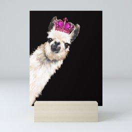 Llama Queen Mini Art Print