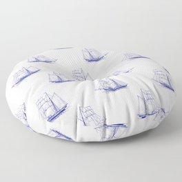 Sailing Ships Floor Pillow