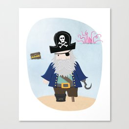 The Pirate and the Squid Canvas Print