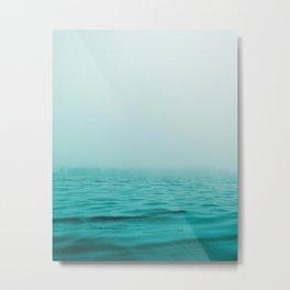 Sea, Ocean, Water, Landscape, Nature, Modern art, Art, Minimal, Wall art Metal Print