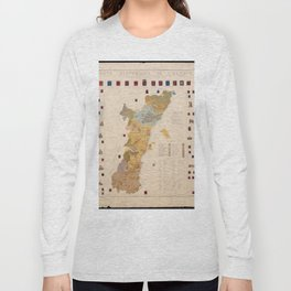 Historic Map of Alsace (1859) Long Sleeve T-shirt
