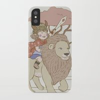 onward iPhone & iPod Cases featuring Onward Feline Steed! by PaperPanda Books