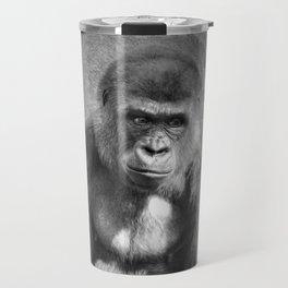 Gorilla Ape Thinking  Travel Mug