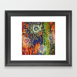 Induced Cosmic Revelations (Four Dreams, In Mutating Cycle) Framed Art Print