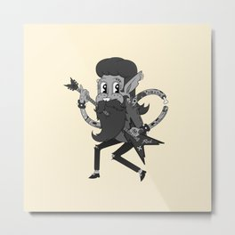 Retro Rock Lad Metal Print
