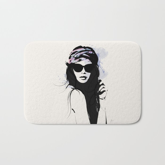 Infatuation - Digital Fashion Illustration Bath Mat
