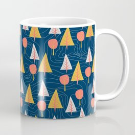 Go Outdoors Contour Lines and Vector Tree pattern Coffee Mug