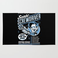 sonic Area & Throw Rugs featuring Sonic Screwdriver by harebrained