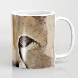 Cheetah Cub - Original Textured Painting Coffee Mug