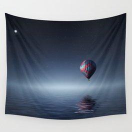 Hot Air Balloon Reflection Wall Tapestry