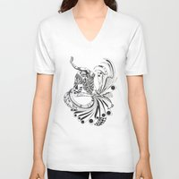 pisces V-neck T-shirts featuring Pisces by Heaven7