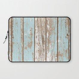 WOOD BLUE TEXTURE Laptop Sleeve