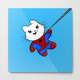 Spiderkitty! Metal Print