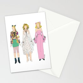 Triple Madge Material Girl Stationery Cards