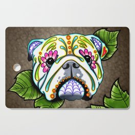 English Bulldog - Day of the Dead Sugar Skull Dog Cutting Board
