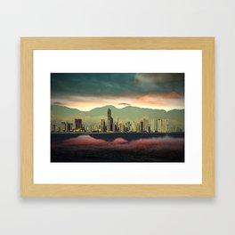 Sunset City Framed Art Print