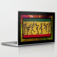reggae Laptop & iPad Skins featuring lively up reggae dancers by dedmanshootn