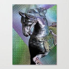 Carousel Horse By Annie Zeno Canvas Print