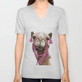 Camel Unisex V-Neck