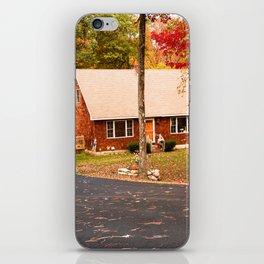 cottage in vermont iPhone Skin