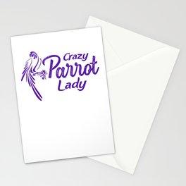 Crazy Parrot Lady pu2 Stationery Cards