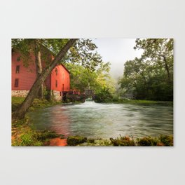 Alley Spring Grist Mill Waterfall and Lake Canvas Print