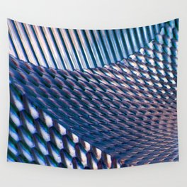 Shiny Blue Dimple Abstract Wall Tapestry