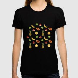 Tropical Fruity Summer Pattern T-shirt