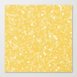 Primrose Yellow Polka Dot Bubbles Canvas Print