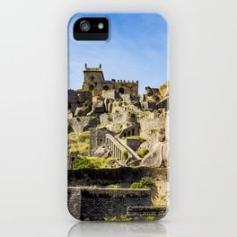 Panorama Shot of the Many Layers and Structures at Golconda Fort in Hyderabad, India iPhone Case