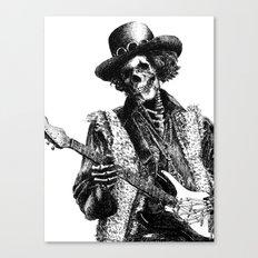 The Legend of Guitarist Canvas Print