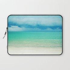 Blue Turquoise Tropical Sandy Beach Laptop Sleeve