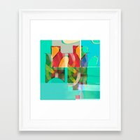 pool Framed Art Prints featuring POOL by  ECOLARTE
