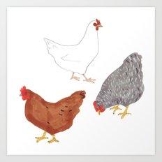 Chickens Art Print