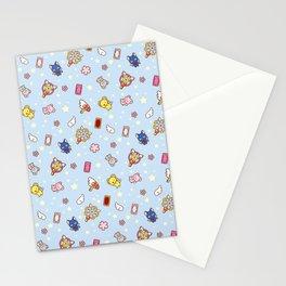 cardcaptor cute pattern blue Stationery Cards